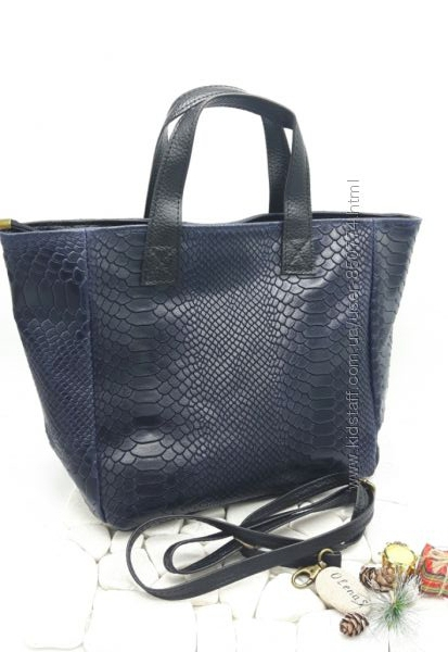 Итальянская кожаная сумка мини шоппер. Оригинал.
