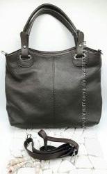 Большая кожаная сумка шоппер из Италии.