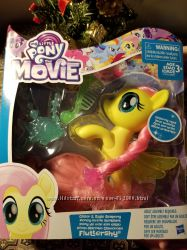 My little pony the movie glitter eyes flatershy  с аксессуарами