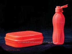 Бутылка Эко 500 мл с клапаном Tupperware ярко-коралловый цвет