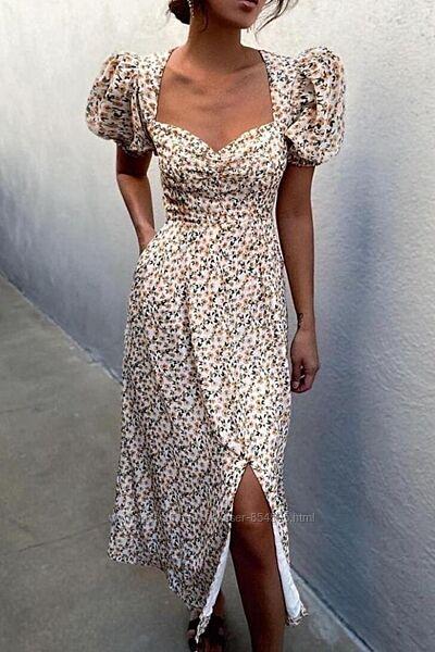 Женское летнее платье из шифона, легкое платье-сарафан на лето