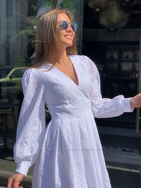 Платье женское с натуральной ткани, платье прошва, женское летнее платье