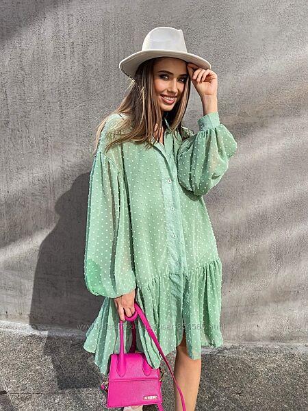 Платье женское короткое, легкое воздушное платье, летнее женское платье
