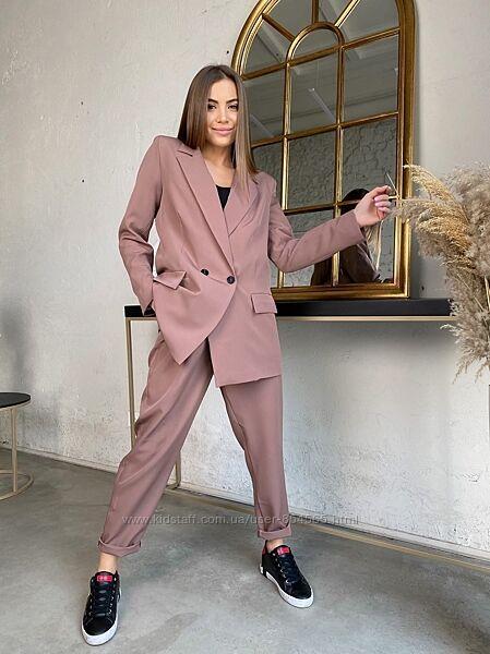 Стильный женский брючный костюм, модный костюм брючный р с 42 по 56