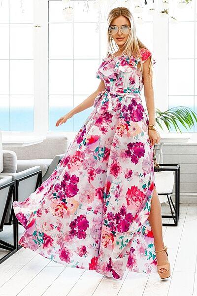 Платье в пол на лето, женское длинное платье платье в цветы, платье сарафан