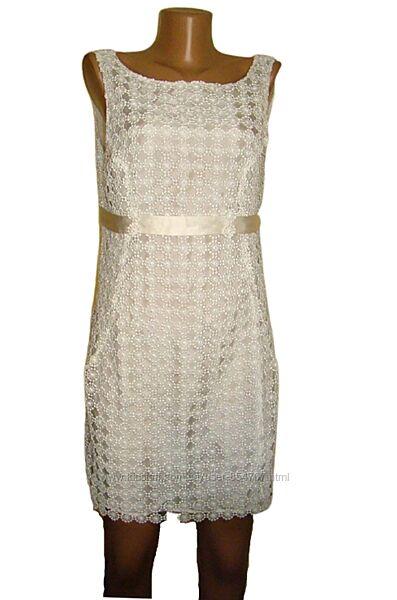 Платье гипюровое нарядное айвори Warehouse Размер 46, М