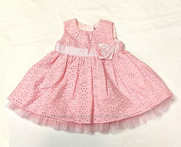 Платье детское нарядное батист TU размер 56-62 см, 0-3 мес