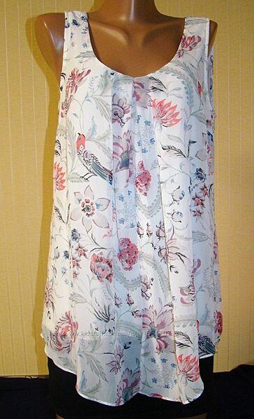 Блузка женская нарядная на подкладке маечка Monsoon Размер 46 M, UK 12, E