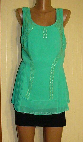 Блузка женская нарядная маечка зеленая Next Размер 50 L, UK16