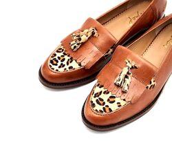 Туфли женские лоферы кожаные коричневые Joules Locksley Tan размер 38, UK6
