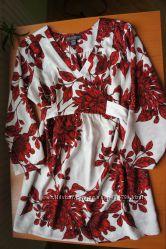 Яркая блуза туника для беременной из США M