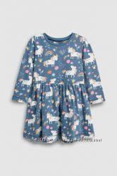 Платье с единорожками Next 2-3 и  4-5 лет