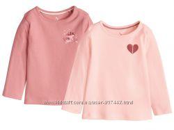 Комплект две очаровательные футболки на девочку от lupilu.