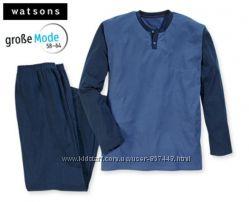 Мужская пижама домашний костюм, watsons германия р. xxxl-4xl
