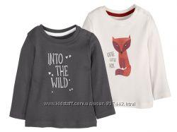 Две очаровательные футболки на девочку от lupilu, 7480 см