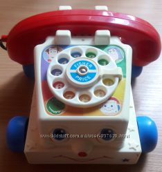 Телефон каталка Fisher price, оригинал, в хорошем состоянии