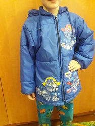 Куртка детская демисезонная с капюшоном на рост 122