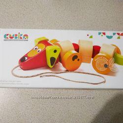 Cubika такса собачка каталка на веревочке