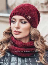 Комплект букле из шапки и шарфа-хомута