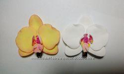 Заколка орхидея из фоамрана, разные