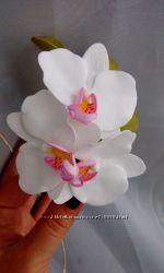 Заколка  брошь орхидея из фоамирана