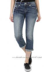 Новые джинсы капри бойфренды W28 Miss Me USA