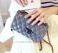 Женская сумка клатч шанель мини на цепочке через плечо