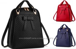Рюкзак женский из кожзама сумка бантик, 659 грн. Рюкзаки женские ... 90d28fd1987