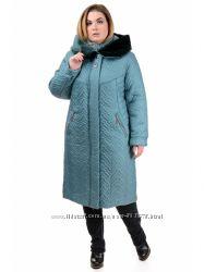 Зимнее пальто больших размеров с капюшоном G211, р. 52-60 цвета