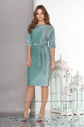 Люрексовое праздничное платье А158 с цельнокроеным рукавом, р. 44-54