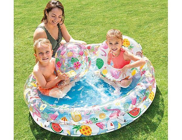 Детские бассейны с кругом и мячом, Intex 59460, 59469