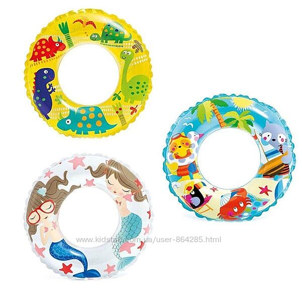 Детский надувной круг Intex 59242, 6-10 лет