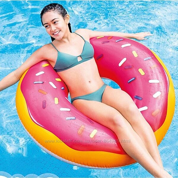 Надувные круги Розовый и Шоколадный пончик, Intex 56262, 56256