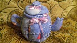 Текстильный тильда чайник
