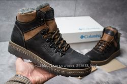 Зимние кожаные ботинки на меху Columbia Chinook Black