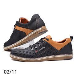 Спортивные туфли, кроссовки Columbia 02/11 натуральная кожа с перфорацией
