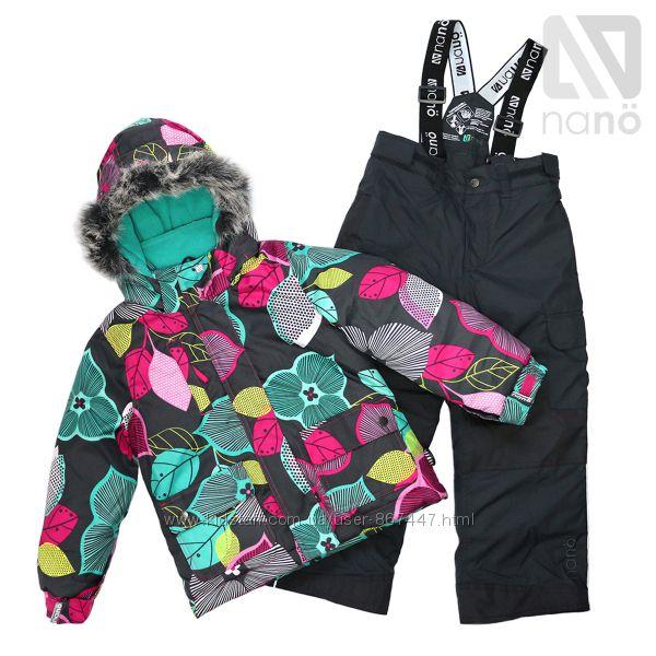Детские зимние комбинезоны для девочек термо бренд НАНО Канада ассортимент