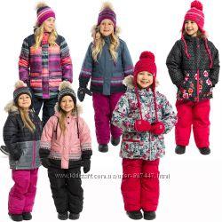 Детские зимние комбинезоны для девочек бренд НАНО NANO Канада термо до - 30