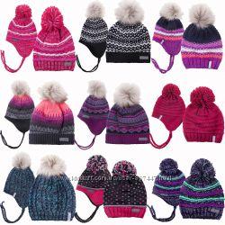 Детская зимняя шапка для девочки на флисе бренд НАНО ПЕЛЮШ СНО Канада зима