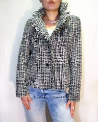 Departure супер пиджак в стиле chanel с бахромистой оборкой
