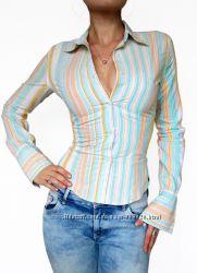 Lois фирменная хлопковая рубашка в полоску с запонками