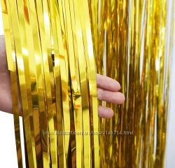 Хит 2019 Фольгированная шторка, дождик для фотозоны, гирлянда из фольги