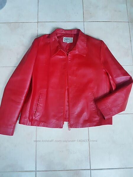 Шкіряний піджак куртка 46 р Vera Pelle