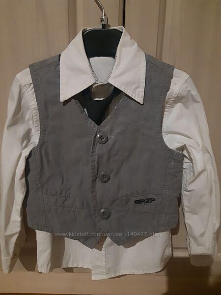 Комплект рубашка жилетка Palomino 98р