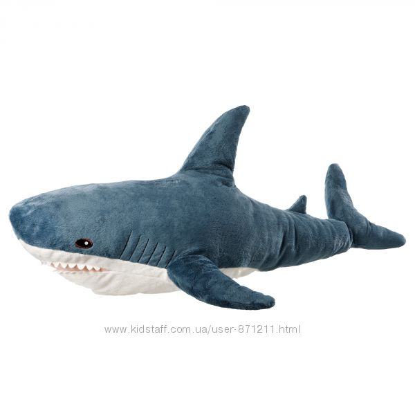 Мягкая игрушка, акула BL&AringHAJ, БЛОХЭЙ Ikea Икеа 303. 735. 88