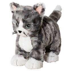 Мягкая игрушка, кот серыйбелый LILLEPLUTT, ЛИЛЛЕПЛУТТ Ikea Икеа 002. 604. 51