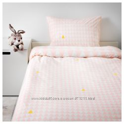 Комплект постельного белья, светло-розовый, STILLSAMT Ikea Икеа 203. 586. 6