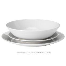 Сервиз, 18 предметов, белый, ФЛИТИГХЕТ FLITIGHET Ikea Икеа 303. 339. 22