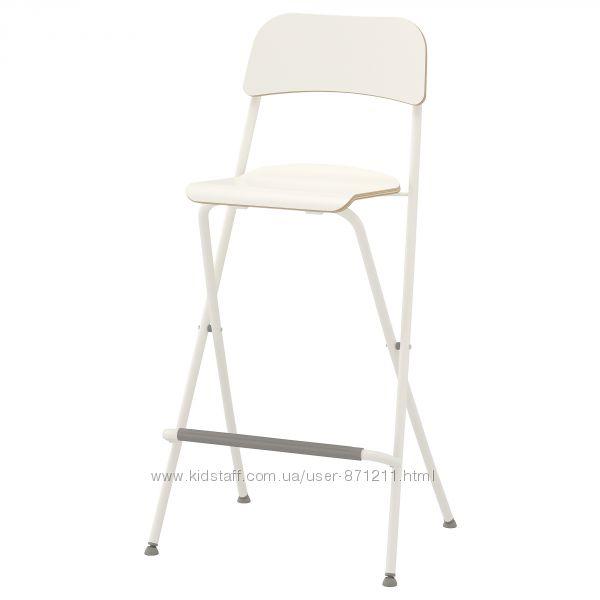 Стул барный, складной, белый, 74 см, FRANKLIN ФРАНКЛИН Ikea Икеа 904. 048. 79