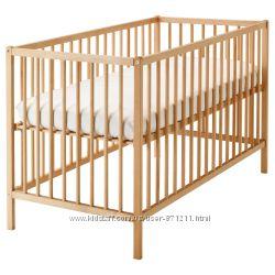 Кроватка детская, бук, 60x120 см, SNIGLAR СНИГЛАР Ikea Икеа 302. 485. 3